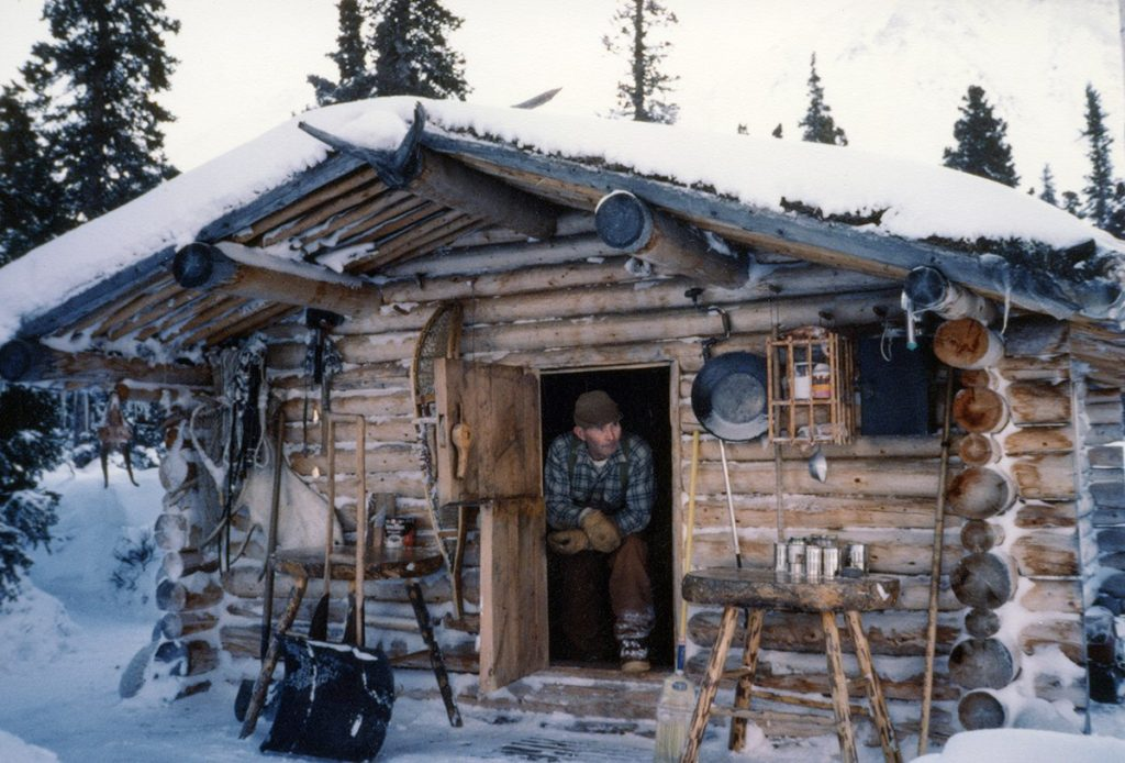 Dick Proenneke – looking out his cabin