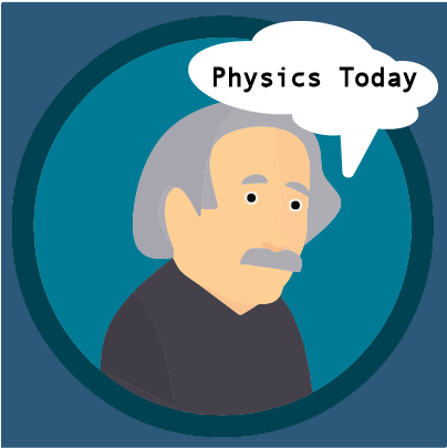 cartoon Graphic of Albert Einstein