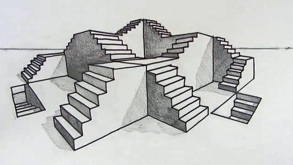 2PointPerspectiveStairs
