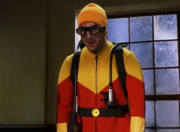 Adam Sandler dressed as Scuba Steve from Big Daddy