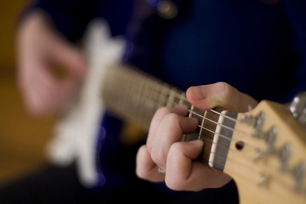 guitar - shallow depth of field